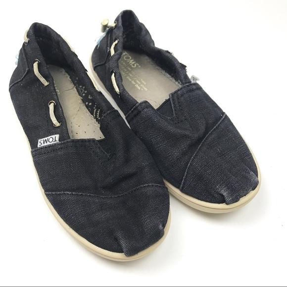 1040c1f0a1605 Toms Shoes   Bimini Drawstring Slip On Sz 3y   Poshmark